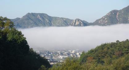 右田ヶ岳の雲海の写真